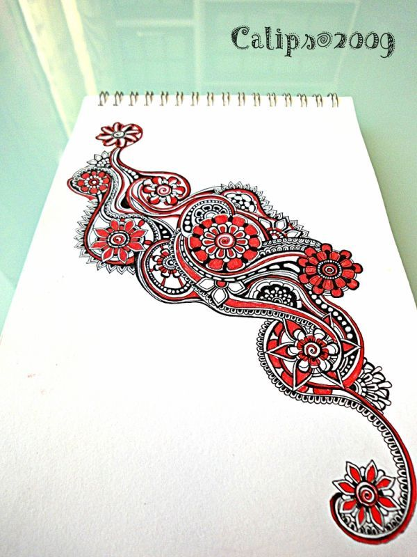Cool and beautiful Zentangle inspiration.