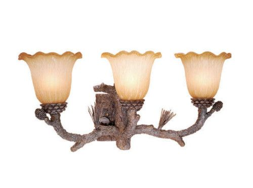 Aspen Rustic Pine Cones Light Vanity  - for the lodge bathrooms