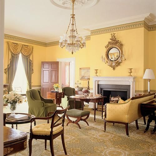 142 best images about yellow wall color on pinterest - Federal style interior paint colors ...