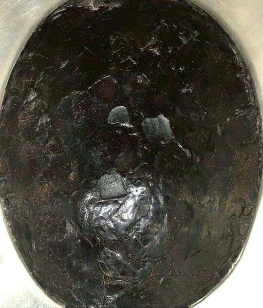 Close  view of Hajr  e Aswad  ( the black stone )  # kabah # Mecca