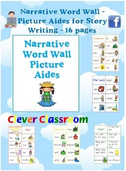 Narrative Picture Aides Word Wall Vocabulary - PDF fileOne of our TOP downloads on TpT!16 page teaching resource.154 pictures, most wit...