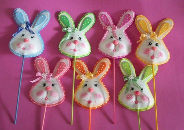 conejos de foami para baby shower manualidades para baby shower