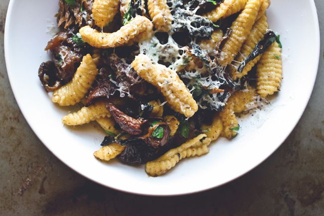 Wild Mushroom Cavatelli - sub homemade pasta for store bought for a more simple recipe.