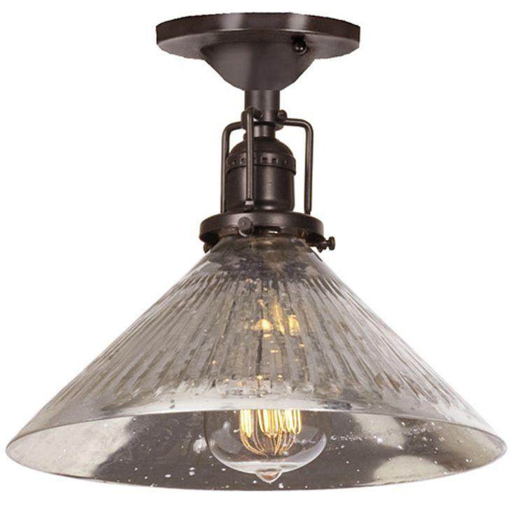 Mercury Glass Cone Industrial Ceiling Light bronze