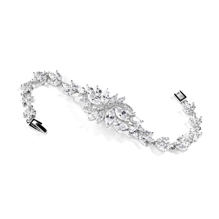 'Evelyn' Cubic Zirconia Event Bracelet - Item No: 4014B-S-7 / 4014B-S-6