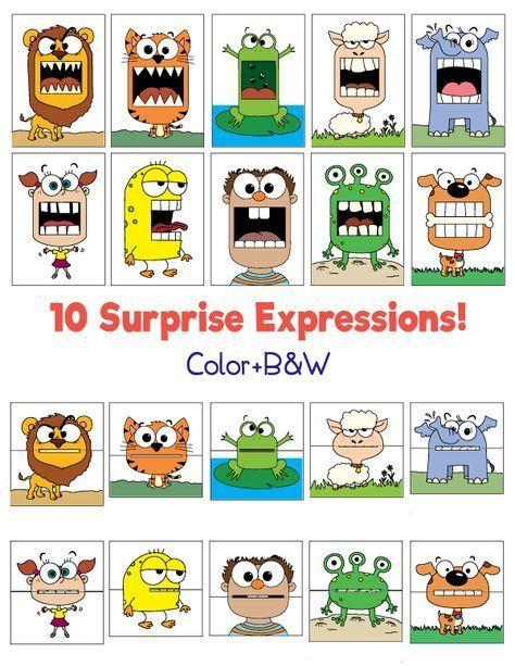 Surprise expressions – #Paper workWith children