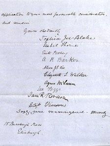 Suffragette letter recently found