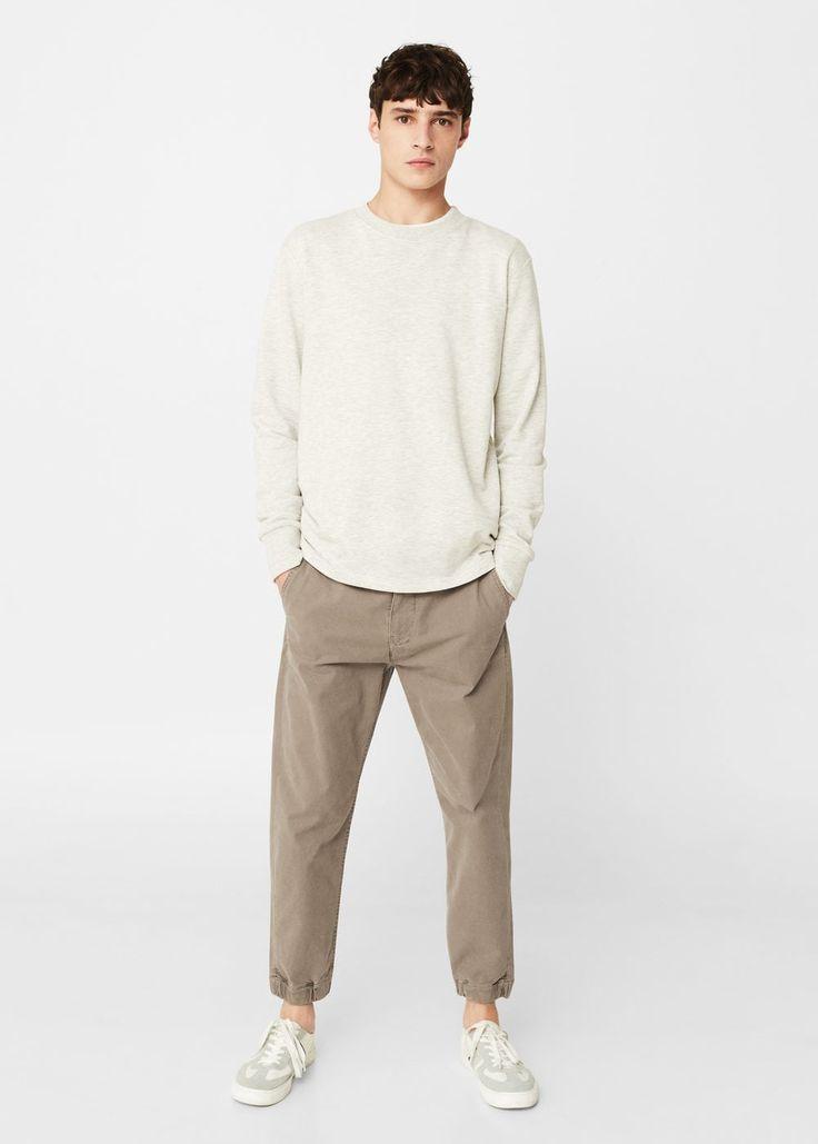Chino algodón puños bajo - Pantalones de Hombre   MANGO Man República Dominicana