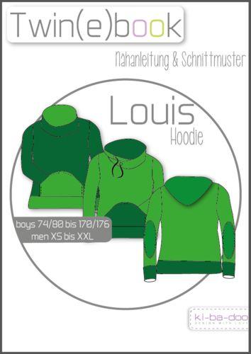 Twin(e)book Hoodie Louis/PAlouis - Schnittmuster und Anleitung als PDF, versandkostenfrei