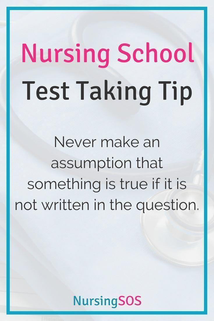 nursing test assumption tip never nyu certificate much lpn pediatric does taking something important schoolnurse xyz nurse