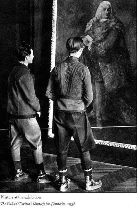 Posetioci u Muzeju kneza Pavla u Beogradu, 1938. godine.  Visitors at Prince Paul Museum in Belgrade, 1938.