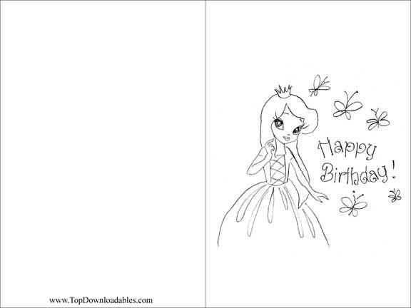Free Printable Princess Birthday Party Card