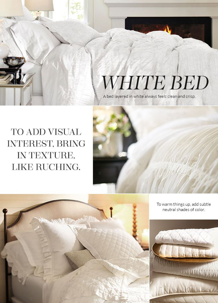 All White Bedding Pottery Barn A Restful Bedroom