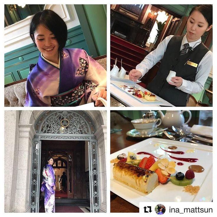 いいね!30件、コメント3件 ― Atelier_FUJIKOHさん(@atelier_fujikoh)のInstagramアカウント: 「着付の先生で料理研究家の稲垣智美さんのInstagramからRepostさせていただきます。  #Repost @ina_mattsun (@get_repost) ・・・ 長楽館のドレッサージュ…」