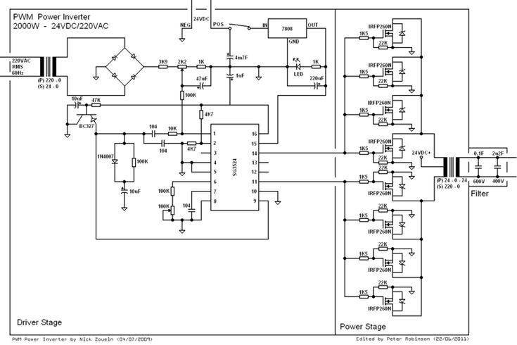 Sine Wave Inverter Circuit Diagram  U2013 The Wiring Diagram