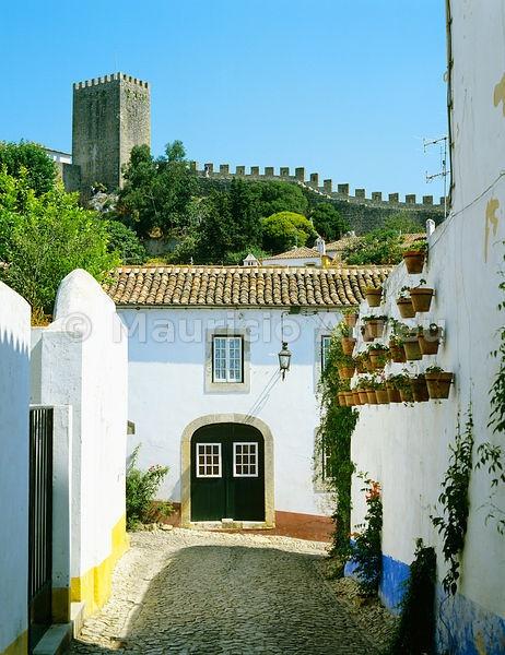 The medieval village of Óbidos. Portugal