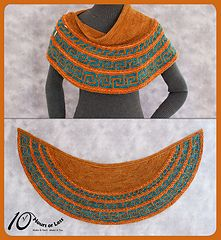 The colors are awesome. I really need to make something like this for myself. (Pattern $6.14 USD in Ravelry).