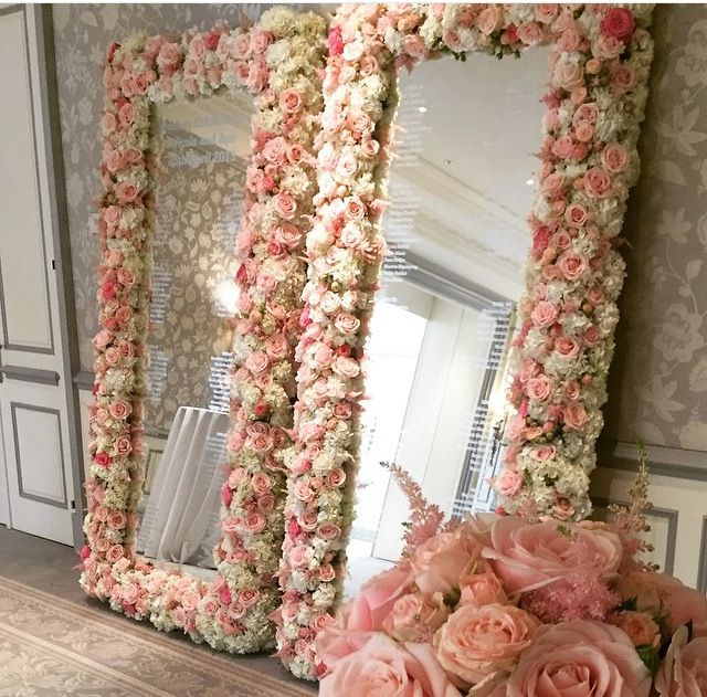 Charming Top 25+ Best Decorated Mirrors Ideas On Pinterest | Diy Floral Mirror,  Handmade Bathroom Mirrors And Cute Makeup Vanity