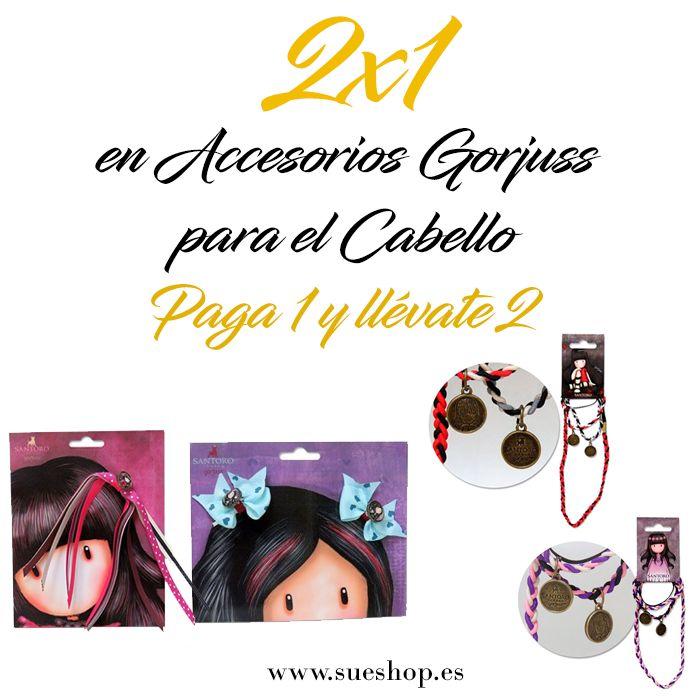 Aprovéchate de nuestra oferta 2x1 en Accesorios para el Cabello Gorjuss!!¡¡Paga 1 y llévate 2!! @sueshop #gorjuss #santorolondon #oferta #2x1 #cabello #accesorios #pelo #niña #gomas #diademas #clips #horquillas #sueshop