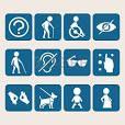 Görme ve işitme engelliler için kullanılan semboller
