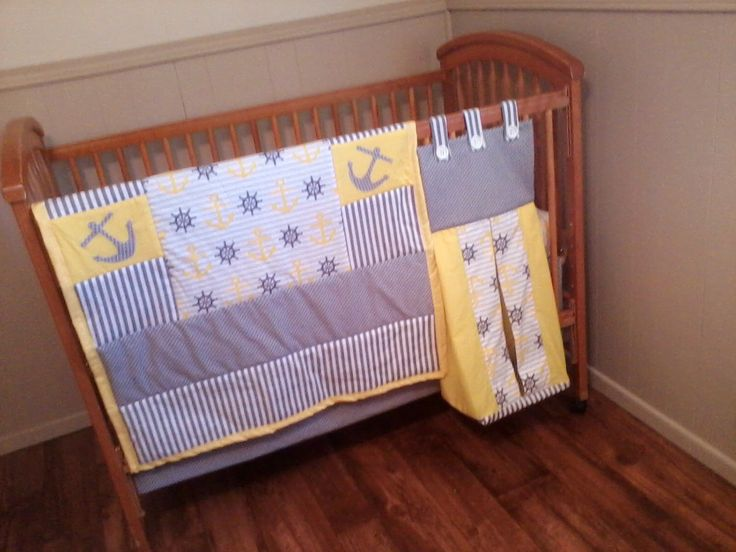 A personal favorite from my Etsy shop https://www.etsy.com/listing/217913449/anchor-baby-quilt-nautical-baby-bedding