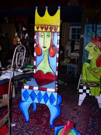 Handpainted Chair from Luonsart.com!!