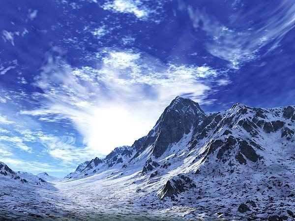 "Bildwerk ""Snow Mountains"""