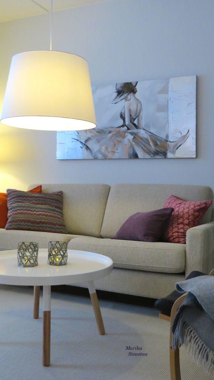 Vaalea, beige, valkoinen olohuone, beige livingroom