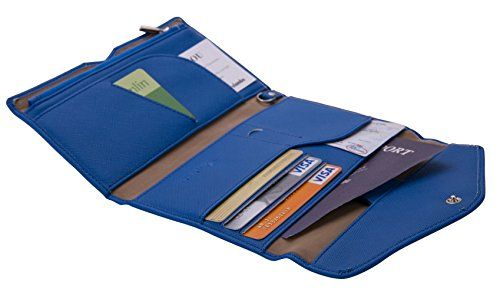 Travelambo Rfid Blocking Passport Holder Wallet & Travel Wallet Envelope 7 Colors