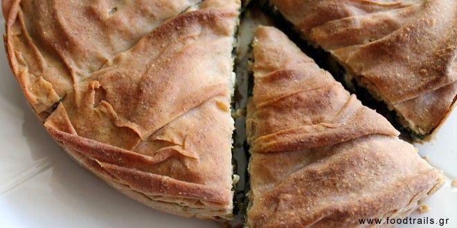 Πίτα σπανάκι (σπανακόπιτα) με αλεύρι ολικής
