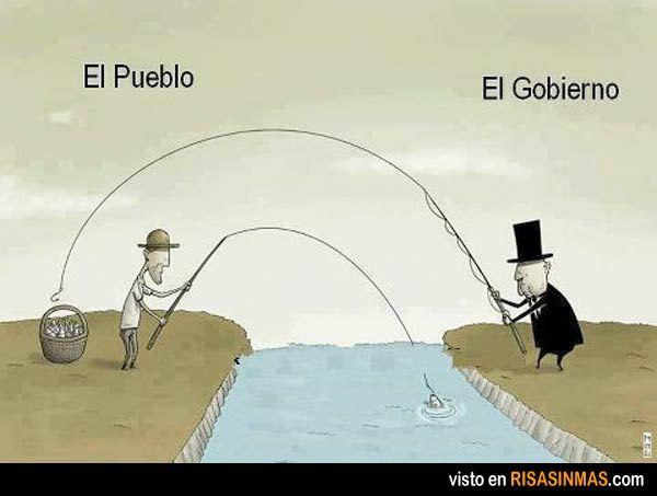 Definición gráfica de pueblo y gobierno.