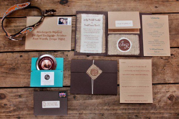 Burlap Wedding Invitations - From 10 Great Ways To Use Burlap At Your Wedding