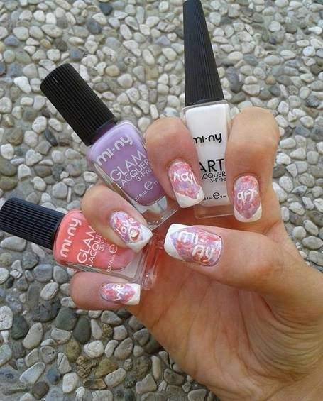 CONTEST: WE LOVE NAIL ART - Nail art by Ele Helen http://www.facebook.com/minynails #nails #nailart #naillacquer #nailpolish #minycosmetics #contest #fashion #pastel