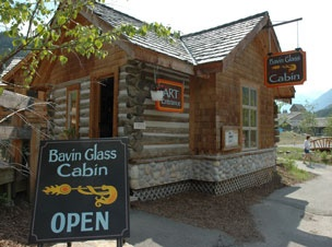 The famous Bavin glass cabin.  The most amazing blown glass pieces made and sold here!
