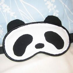 Panda sleep mask! So cute! I totally need this for one of my best friends!