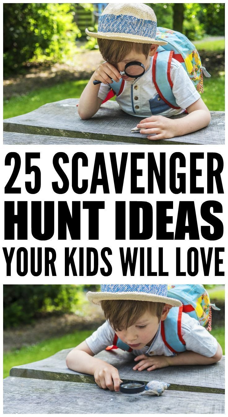 Looking for scavenger hunt ideas for kids? Look no further. Whether you need nature-inspired outdoor ideas for a summer birthday party or camping trip, or want indoor options for bad weather days when you're stuck at home, this collection of 25 scavenger hunt ideas will not disappoint!