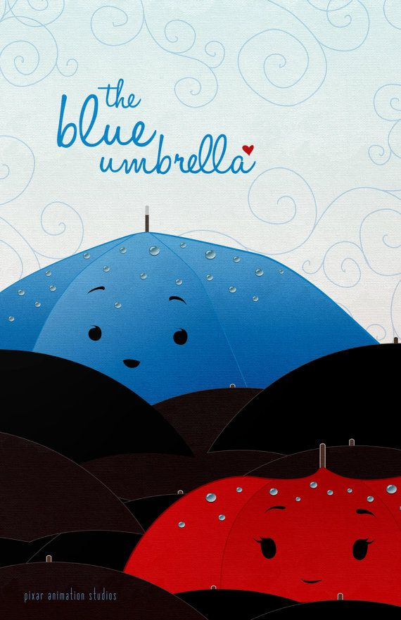 Pixar's The Blue Umbrella Short Film Poster 11x17 by loniwdesigns