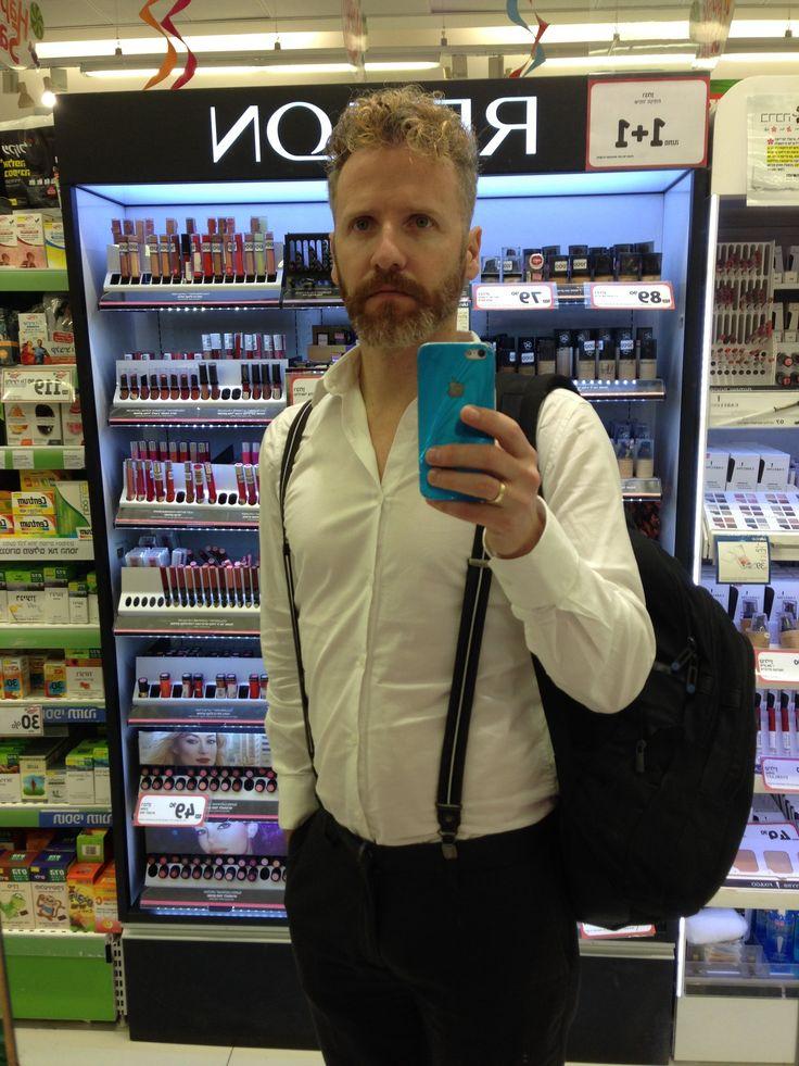 H&M Black Suspenders H&M White shirt Castro Gray pants