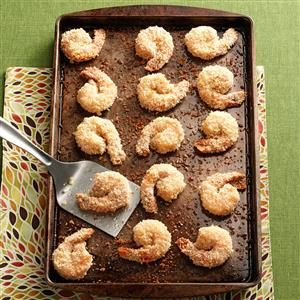 Better Than Fried Shrimp Recipe -Here's a fabulous alternative to battered and deep-fried shrimp. Coating the shrimp with panko breadcrumbs, spraying with cooking spray and then baking give this appetizer a wonderful crunch without all the saturated fat and calories of deep-frying. —Cher Schwartz, Ellisville, Missouri