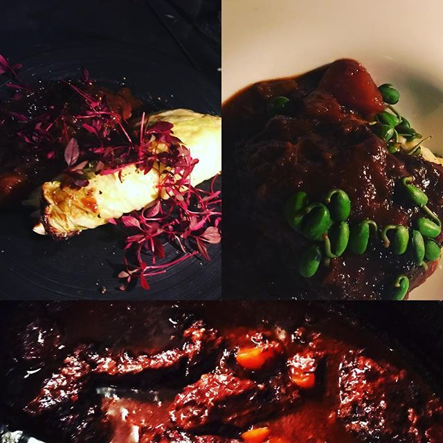 仔牛頰肉。  盛り付けが決まらない。。 大豆若葉、ポムピュか  キャベツか。  クミンを使った僕が悪い。。。 ドーサにしたい。  #ldklucca #那覇 #イタリアン #肉 #ワイン #ジビエ #おひとりさま #ウォークインセラー #国際通り #国際通り屋台村 #鹿 #パスタ #沖縄野菜 #フュージョン #lucca #32℃豚