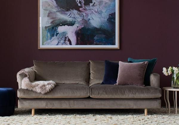 Lux 4 Seater Sofa In Taupe Taupe Sofa Living Room Velvet Sofa Living Room Taupe Sofa