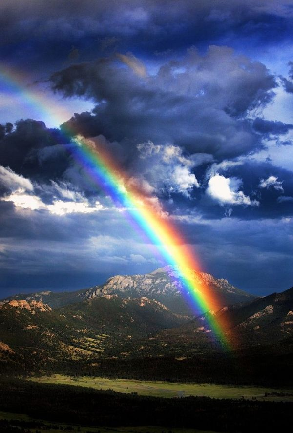 Rocky Mountain National Park, Colorado thats tight so pretty .loves a rainbow.