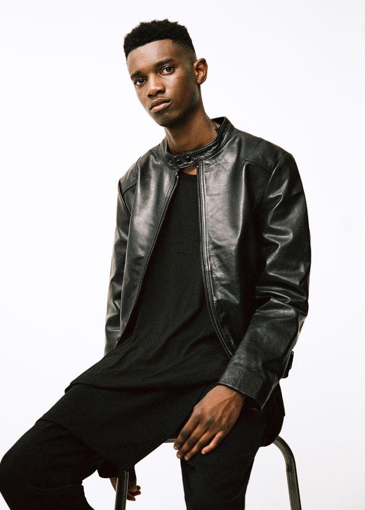Topman AAA collection black leather jacket