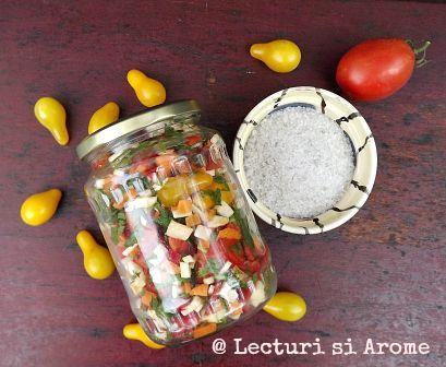 Zarzavat pentru ciorbe (la borcan) - fara conservant - Lecturi si Arome