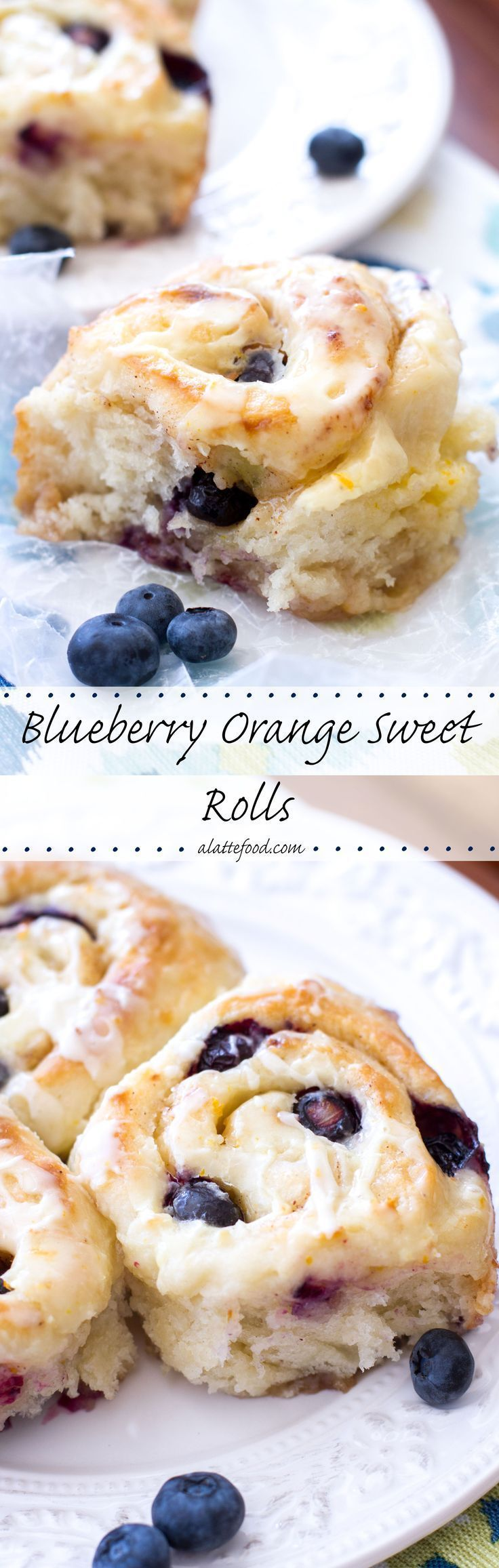 These gooey blueberry orange sweet rolls are so delicious and so easy to put together! | www.alattefood.com/