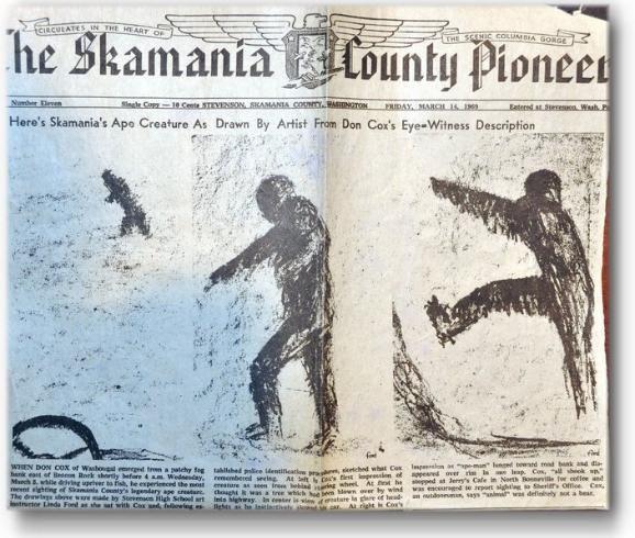 bigfoot....newspaper article 1969