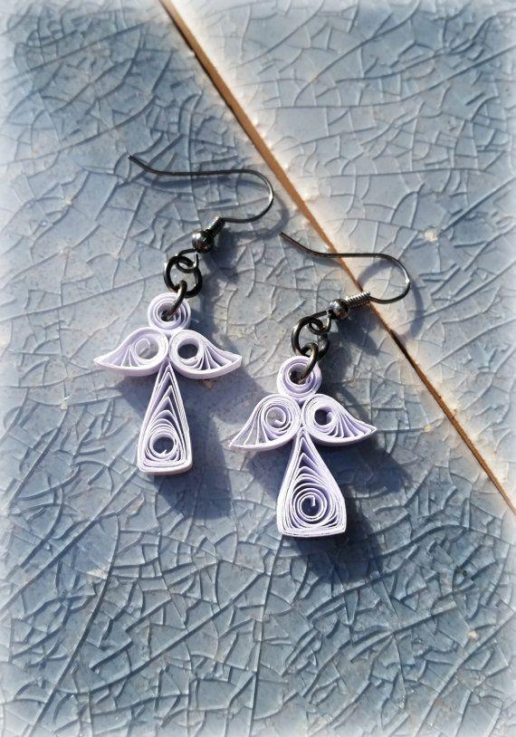 Paper Angel Earrings by APaperDayDream on Etsy