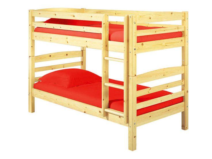 Tiroir lit 90 cm HARRY 5 coloris naturel - Vente de Accessoires de chambre enfant - Conforama