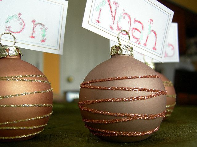Christmas Place Cards by juliecinci, via Flickr