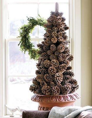 christmas tree: Decor Ideas, Pinecone Trees, Pinecones, Pine Cones, Holidays Decor, Cones Trees, Christmas Decor, Christmas Trees, Christmas Ideas